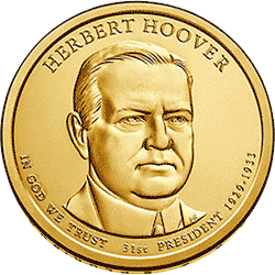 1 dolar 2014 - Herbert Hoover (D)