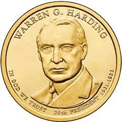 1 dolar 2014 - Warren G. Harding (D)