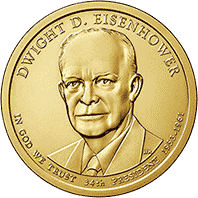 1 dolar 2015 - Dwight D. Eisenhower (P)