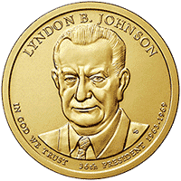 1 dolar 2015 - Lyndon B. Johnson (P) - monety